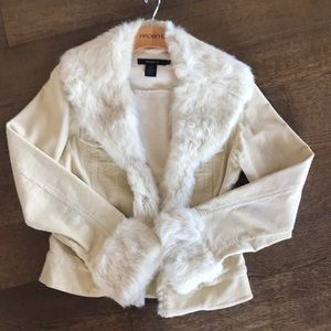Fur collar jacket